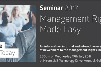 FREE 'Management Rights Made Easy' Seminar